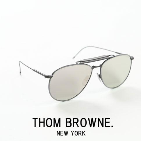 【全品送料無料】【超人気モデル限定入荷!】トムブラウン メガネ THOM BROWNE. NEW YORK アジア限定品 サングラス[TB-015-LTD BLK-GRY-62size Silver-Mirror]シルバーミラーフラットレンズ Dark Grey - Silver Mirror