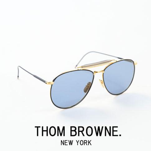 【全品送料無料】【超人気モデル限定入荷!】トムブラウン メガネ THOM BROWNE. NEW YORK サングラス [TB-015-LTD NVY-GLD-62size]マットネイビー&イエローゴールドアビエーターサングラスDark Blue - Gold Flash