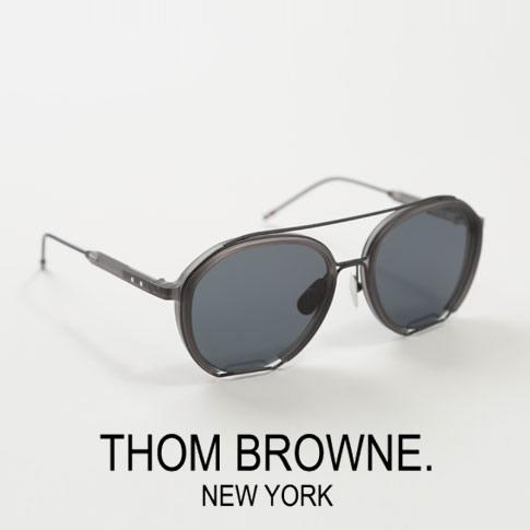 【全品送料無料】【超人気モデル限定入荷!】トムブラウン サングラス ティアドロップ THOM BROWNE. NEW YORK EYEWEARトムブラウン メガネ TBS810-56-03 Satin Crystal Grey - Black Iron w/ Dark Grey - AR