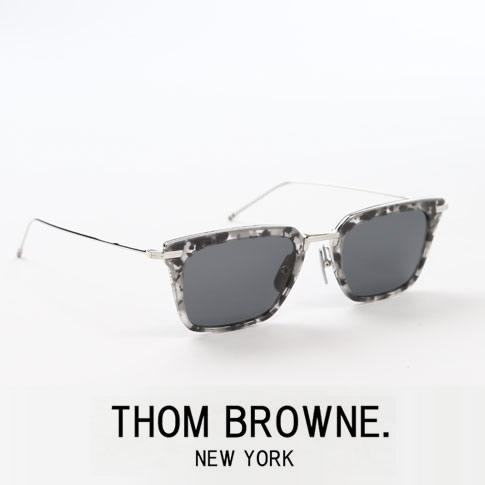 【全品送料無料】【最新モデル入荷】トムブラウン メガネ ウェリントン メタルハーフリム THOM BROWNE. NEW YORK EYEWEARトムブラウン サングラス TBS916-51-03 GREY TORTOISE-SILVER