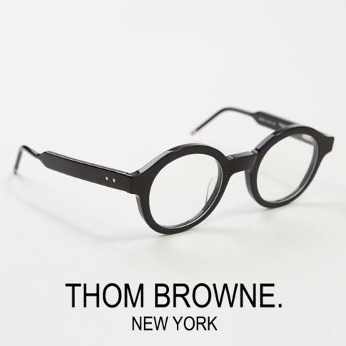 【全品送料無料】トムブラウン メガネ ラウンドシェイプ THOM BROWNE. NEW YORK EYEWEAR トムブラウン 眼鏡 TBX411-47-01[TB-411 01 47size BLK]ル・コルビジェ