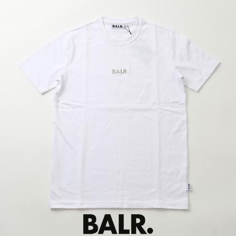 【全品送料無料】ボーラー BALR. Tシャツ BLACK LABEL BASIC SHIRT プレートロゴ ヘビーオンス コットン クルーネック 半袖Tシャツ ホワイト b10003-wh