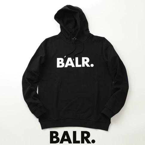 【全品送料無料】ボーラー BALR. パーカー BRAND HOODIE ロゴプリント スウェット フーディー ブラック b10005-bk