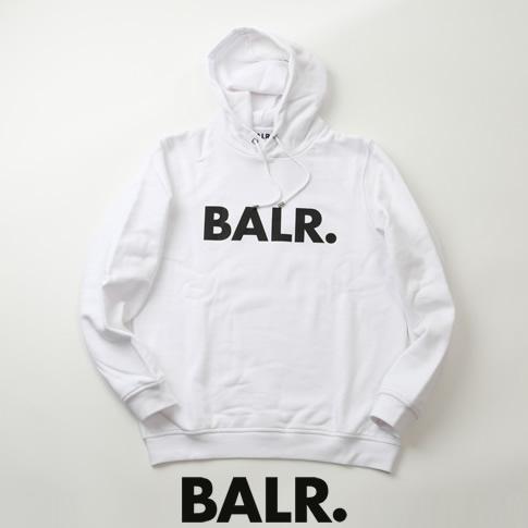 【全品送料無料】ボーラー BALR. パーカー BRAND HOODIE ロゴプリント スウェット フーディー ホワイト b10005-wh