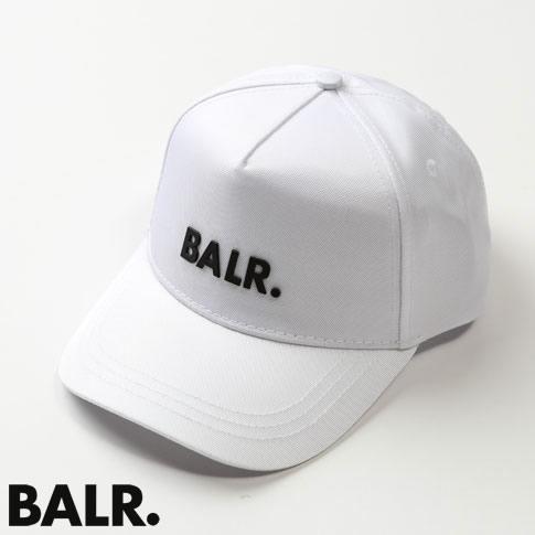 【2020半期決算セール】ボーラー BALR. キャップ CLASSIC OXFORD CAP ベースボールキャップ プレートロゴ ホワイトxブラック b10014-white