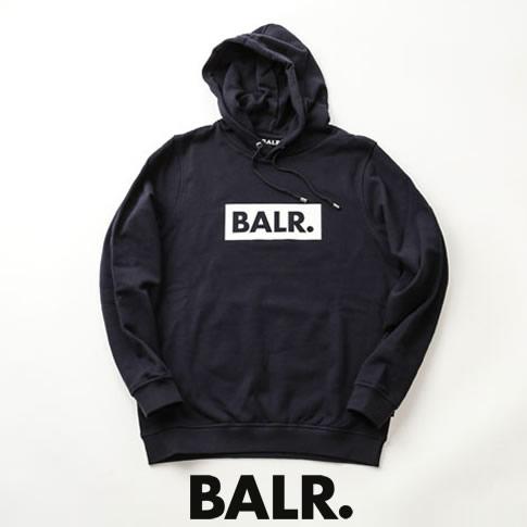 【2020半期決算セール】ボーラー BALR. パーカー CLUB HOODIE ボックスロゴプリント スウェット フーディー ネイビー b10038-navy