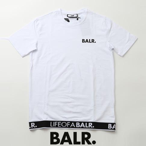 【全品送料無料】ボーラー BALR. Tシャツ LOAB LOUNGE STRAIGHT T-SHIRT ロゴ バンド ストレッチコットン クルーネック 半袖Tシャツ ホワイト b10063-wh
