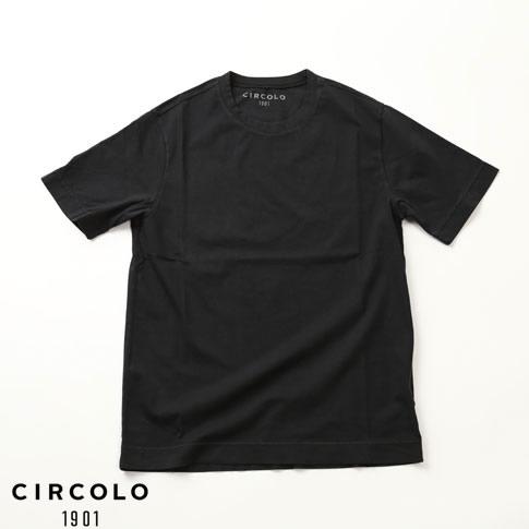 【2020半期決算セール】CIRCOLO 1901 チルコロ 1901 半袖Tシャツ クルーネック ブラック cn2565-011z-nero