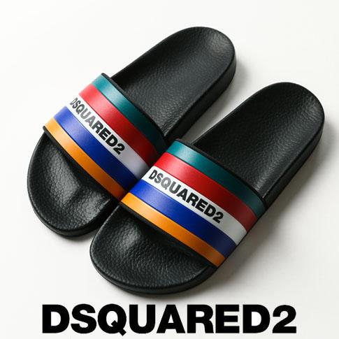 【2020半期決算セール】ディースクエアード / DSQUARED2 / ディースクエアード シャワーサンダル スポーツサンダル Rainbow striped logo slides ffm0012-m116