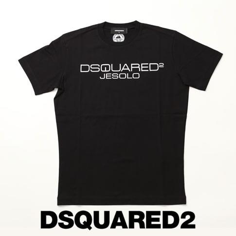 【2020半期決算セール】ディースクエアード / DSQUARED2 / ディースクエアード 半袖 Tシャツ DSQUARED2 JESOLO クラシックロゴプリント クルーネックTシャツ カットソー ブラック s74gd0642-900
