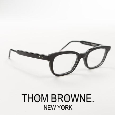 【全品送料無料】トムブラウン メガネ ウエリントンシェイプ THOM BROWNE. NEW YORK EYEWEAR トムブラウン 眼鏡 ブラック TBX410-50-01[TB-410 01 50size]