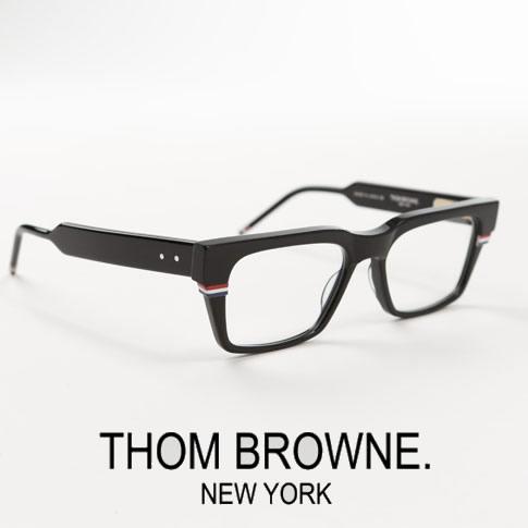 【全品送料無料】トムブラウン メガネ ウエリントンシェイプ THOM BROWNE. NEW YORK EYEWEAR トムブラウン トリコロールチップ 眼鏡 ブラック TBX714-A-01