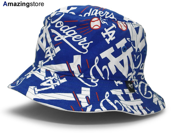 47 BRAND LOS ANGELES DODGERS forty seven brand Los Angeles Dodgers bucket  Hat  Hat headgear headwear HEADWEAR ALL-OVER pattern MLB 15   4   5   15    5   2   ... 8ad3a6e2b25