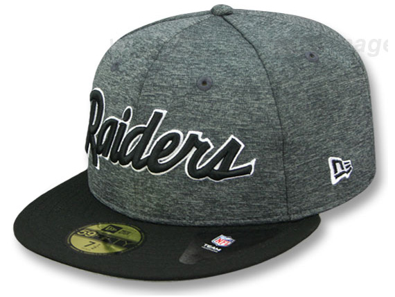 23a974f22ae5d4 NEW ERA OAKLAND RAIDERS new gills Oakland Raiders draft 59FIFTY フィッテッドキャップ  FITTED CAP BLACK
