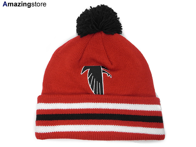 MITCHELL NESS ATLANTA FALCONS Mitchell   Ness Atlanta Falcons knit hat  Beanie Hat head gear new era cap new era caps new era Cap newera Cap large  size mens ... 69aee8a15
