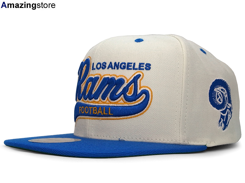 promo code 6d8dc 010d4 MITCHELL NESS LOS ANGELES RAMS Mitchell & Ness Los Angeles Rams snap back  Hat head gear new era cap new era caps new era Cap newery Cap large size ...
