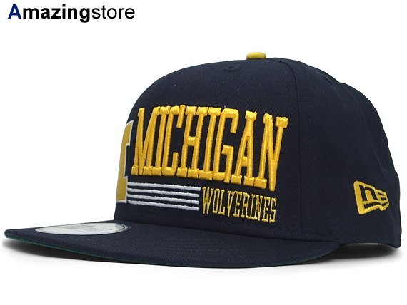 NEW ERA MICHIGAN WOLVERINES new era Michigan Wolverines 9 FIFTY Snapback   big hat head gear new era caps new era Cap size mens ladies College  College 15   2 ... e2c2e9d525d