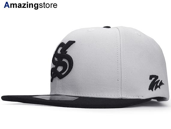 【あす楽対応】7UNION【7THUNDER 2 TONE STRAPBACK/WHT-BLK】 7ユニオン ストラップバック [帽子 cap キャップ メンズ レディース 15_10_1UNI]