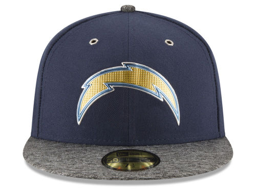 NEW ERA SAN DIEGO CHARGERS 【2016 NFL DRAFT/NAVY-DARK HEATHER GREY】 ニューエラ サンディエゴ チャージャーズ ドラフト 59FIFTY フィッテッド キャップ FITTED CAP AUTHENTIC [帽子 ヘッドギア メンズ 16_4_2DRF16_4_3]