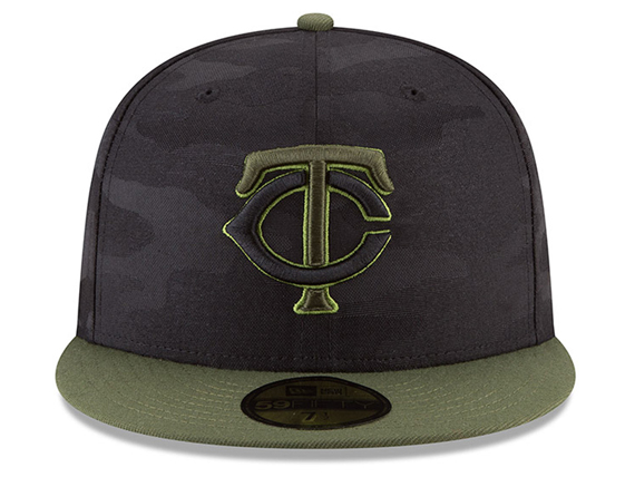a30606dc243 ニューエラ ミネソタ ツインズ  2018 MEMORIAL DAY STARS N STRIPES 59FIFTY FITTED BLK CAMO NEW  ERA MINNESOTA TWINS ...