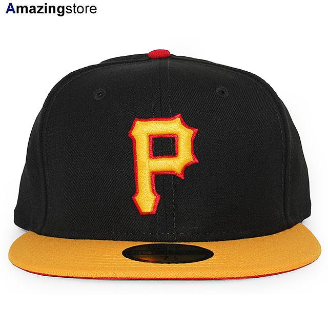 期間限定特別価格 ツバ裏がグレーの旧オーセンティックモデル 帽子 野球帽 ニューエラ 59FIFTY ピッツバーグ パイレーツ MLB 休日 OLD AUTHENTIC COLOR PIRATES PITSBURGH GAME FITTED 20_2RE ERA CAP ALT NEW 2001-2005 BLK-GOLD