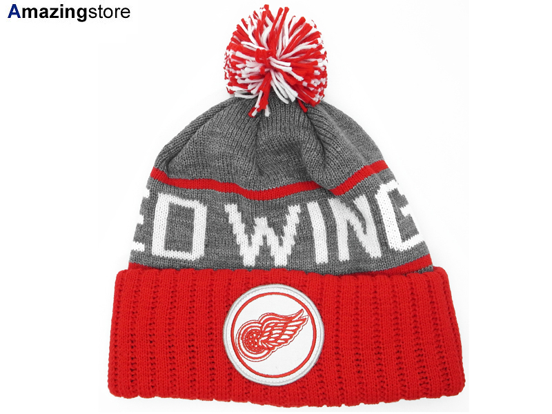MITCHELL NESS DETROIT RED WINGS Mitchell  amp amp  Ness Detroit Red Wings  knit hat ... 4ccf04edb81