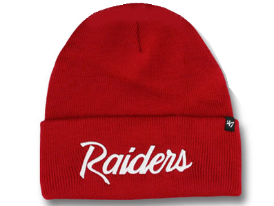 47 BRAND OAKLAND RAIDERS forty seven brand Oakland Raiders Beanie knit hat a9201b530a1