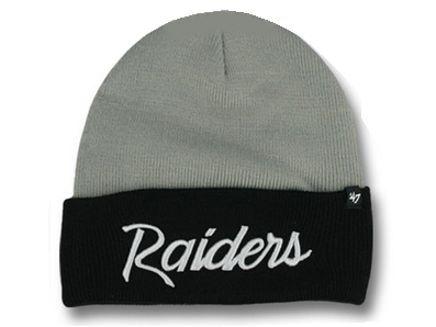 1d71851da74468 47 BRAND OAKLAND RAIDERS forty seven brand Oakland Raiders Beanie knit hat  ...