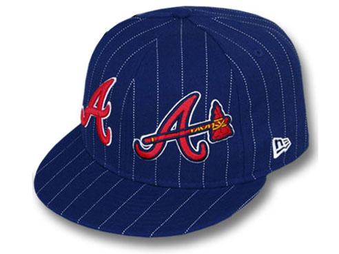 NEW ERA ATLANTA BRAVES 【BIG-ONE DOUBLE WHAMMY/NAVY】 ニューエラ アトランタ ブレーブス 59FIFTY フィッテッド キャップ FITTED CAP [ウール WOOL 帽子 ヘッドギア cap キャップ 大きい サイズ メンズ レディース 16_2_1 16_2_2 16_2RE]