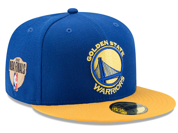 NEW ERA ゴールデンステイト ウォリアーズ 【2018 NBA FINALS 59FIFTY FITTED/RYL-GOLD】 ニューエラ GOLDEN STATE WARRIORS [18_5_5NBA18_6_2 2018 NBA FINALS BIG_SIZE]