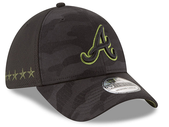 ニューエラ アトランタ ブレーブス 【2018 MEMORIAL DAY STARS N STRIPES 39THIRTY FLEX FIT/BLK CAMO】 NEW ERA ATLANTA BRAVES [18_5_5MLB18_6_2]