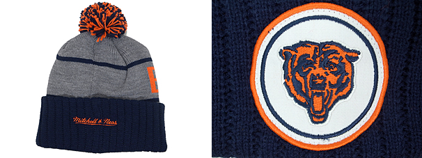 006be3bd222 MITCHELL NESS CHICAGO BEARS Mitchell   Ness Chicago Bears knit hat Beanie  Hat  head gear new era cap new era caps new era Cap newera Cap large size mens  ...