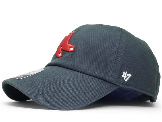 ae3d73ab86efea 47 BRAND BOSTON RED SOX forty seven brand Boston Red Sox back strap low  profile Cap ...