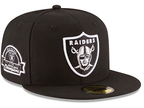 huge discount f5638 4efbd ... best price new era oakland raiders 3x titles side patch blk new gills oakland  raiders 59fifty