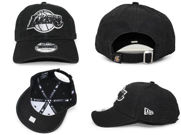 NEW ERA LOS ANGELES LAKERS new gills Los Angeles Lakers strap back row  profile cap LOW PROFILE DAD HAT NBA BLACK black black  hat cap cap BALL CAP  17 3 3 ... d41f55812de
