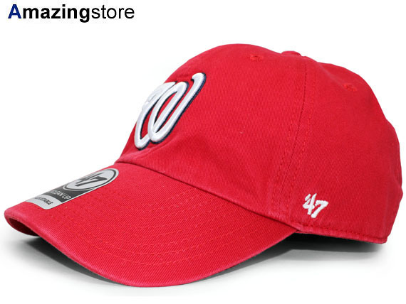 89b6d98aec49b 47BRAND WASHINGTON NATIONALS forty seven brand Washington National s strap  back row profile cap LOW PROFILE DAD HAT MLB red red  hat cap CAP 19 1RE