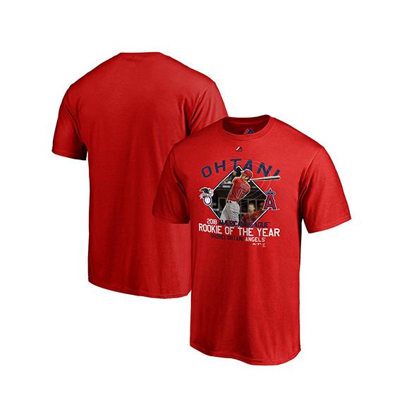 Shohei Otani American League rookie of the year memory model T-shirt Los  Angeles Angels  18 11 3MLB18 11 4  8c3b6b831