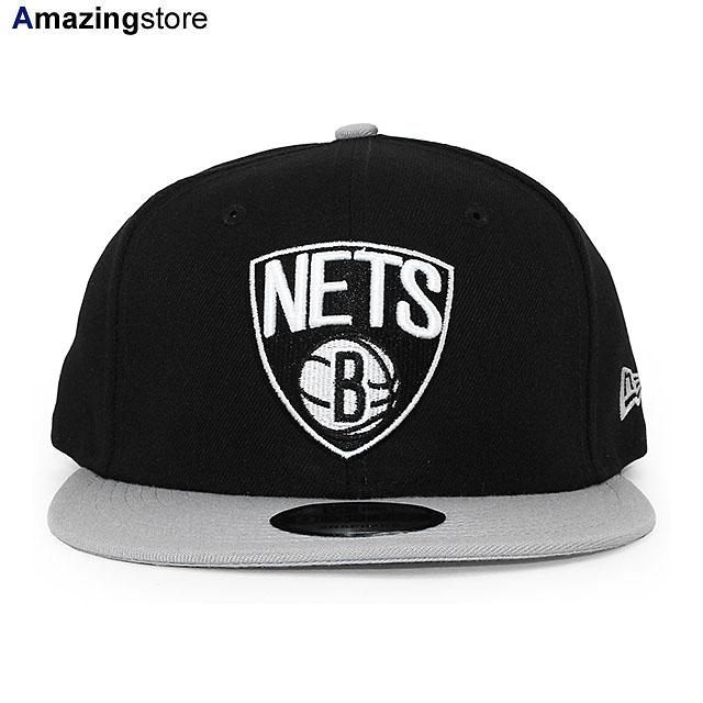 ニューエラ ブルックリン ネッツ 9FIFTY スナップバック キャップ 【NBA 2T TEAM-BASIC SNAPBACK CAP/黒-グレー】 NEW ERA BROOKLYN NETS ブラック グレー [19_12_3NE 19_12_4]