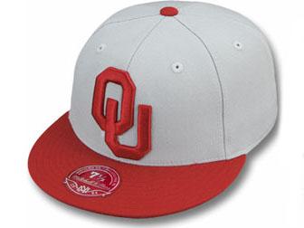 MITCHELL&NESS OKLAHOMA SOONERS 【2T XL-LOGO/GREY-RED】 ミッチェル&ネス オクラホマ スーナーズ フィッテッドキャップ FITTED CAP [ 帽子 ヘッドギア 大きい サイズ メンズ レディース グレー BIGロゴ ビッグロゴ NCAA カレッジ COLLEGE DEADSTOCK 15_6_1XL]