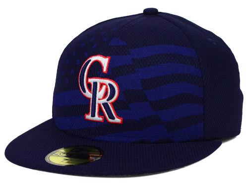 NEW ERA COLORADO ROCKIES【2015 JULY 4TH STARS N STRIPES/NAVY】 ニューエラ コロラド ロッキーズ オンフィールド 59FIFTY CAP [帽子 ヘッドギア キャップ スターズアンドストライプス 15_6_3NESTARS15_6_4]