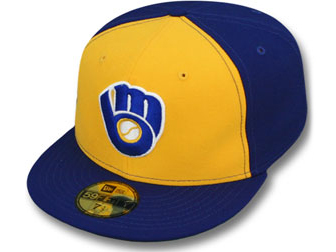 NEW ERA MILWAUKEE BREWERS new gills Milwaukee Bulwer s 59FIFTY フィッテッドキャップ FITTED  CAP Cooperstown blue blue gold yellow  hat cap MLB 17 2 5 17 3 2  1d1afec5616a