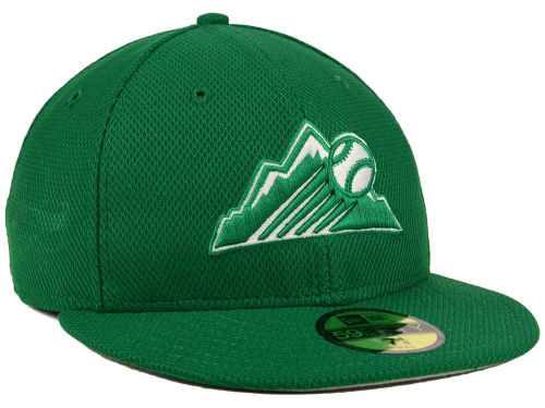 NEW ERA COLORADO ROCKIES new era Colorado Rockies 59FIFTY fitted cap FITTED CAP St. Patrick's day [big hat head gear new era cap new era caps size 16 _ 3 _ 2]