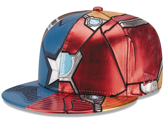 cb18af1c1a02d NEW ERA MARVEL COMICS CAPTAIN AMERICA era Marvel Comics AVENGERS Avengers  civil-war 59FIFTY fitted ...