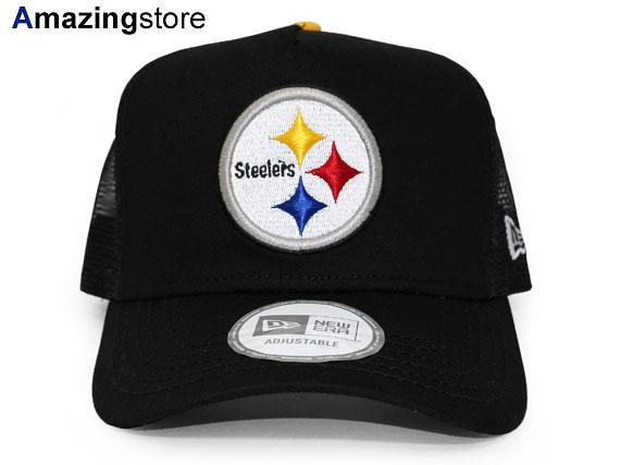 NEW ERA PITTSBURGH STEELERS new era Pittsburgh Steelers trucker mesh Cap   Hat mesh head gear new era cap new era caps mens Womens 16   9   5 16   10    2 ... 7f75a796ae2