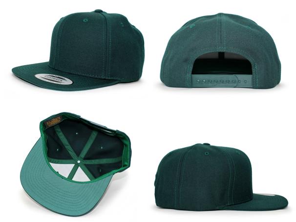 3c6c1a219b3 YUPOONG FLEXFIT upon Flex fit solid Snapback GRN Green PLAIN  plain blank  hats headgear cap large size mens ladies LA NY BK 16   8   4 16   8   5