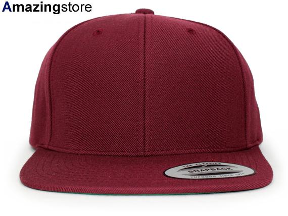 YUPOONG FLEXFIT upon Flex fit solid Snapback Maroon PLAIN  plain blank hats  headgear cap large size mens ladies LA NY BK 16   8   4 16   8   5  61d6398bf8d9