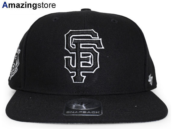 87274fb0b5dd3 47BRAND SAN FRANCISCO GIANTS forty seven brand San Francisco Giants  snapback BLCAK black black  men s lady s 17 5 4 17 5 5 17 5RE for the woman  for the hat ...