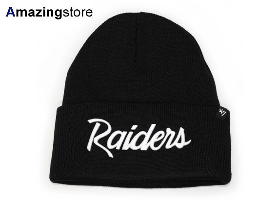 47 BRAND OAKLAND RAIDERS forty seven brand Oakland Raiders Beanie knit hat 27187ab17b8