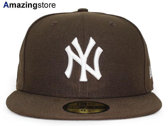 NEW ERA NEW YORK YANKEES 【TEAM-BASIC/BROWN-WHITE】 ニューエラ ニューヨーク ヤンキース 59FIFTY フィッテッド キャップ FITTED CAP ブラウン×ホワイト 11308562 [帽子 ニューエラキャップ neweraキャップ NENYY 17_8RE]