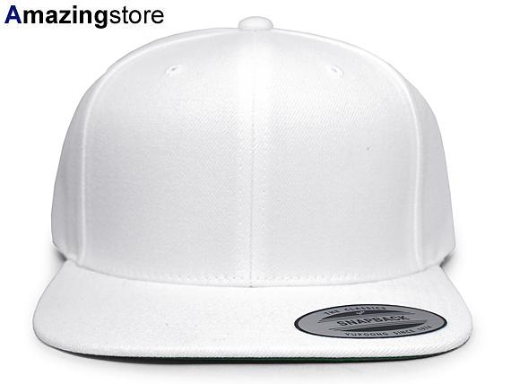 White flexible fitting plain fabric snapback WHITE white YUPOONG FLEXFIT  you pop  plain fabric blank hat 17 2 5NHT  5ead3baa556